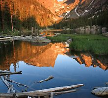 Sunrise at Dream Lake Rocky Mountain National Park, Colorado by Teresa Smith