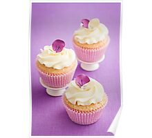 Decorated cupcakes Poster
