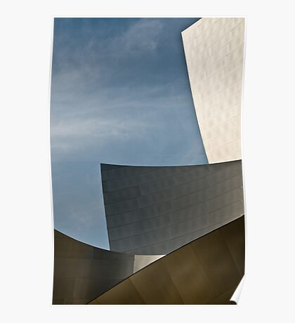 Early Morning at the Walt Disney Concert Hall Poster
