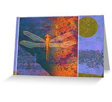 Flaming Dragonfly Greeting Card