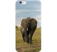 Wild Elephant mom in Kenya iPhone Case/Skin