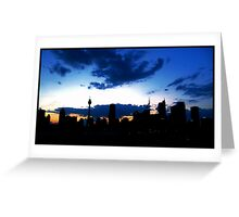 Blue Sydney Sunset Greeting Card