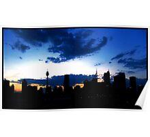 Blue Sydney Sunset Poster