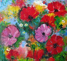 Wild poppies by Karin Zeller