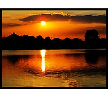 Golden Sunset on Water Photographic Print