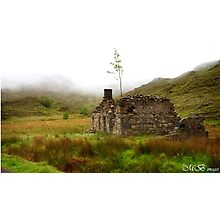 Ruined Bothy on the Drove Road Photographic Print