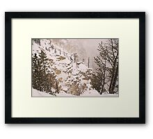 Yellowstone Canyon Snowstorm Framed Print