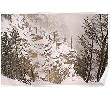 Yellowstone Canyon Snowstorm Poster