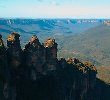 Three Sisters including Valley Background by Richie Wessen