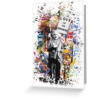 Albert Einstein Love Is The Answer Banksy Greeting Card