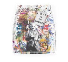 Albert Einstein Love Is The Answer Banksy Pencil Skirt