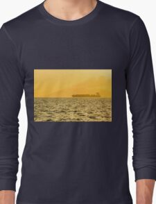 Ship sailing in ocean Long Sleeve T-Shirt