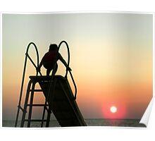 Sliding Board Sunset Poster