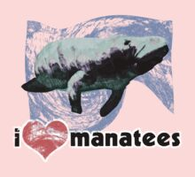 I Love Manatees by evisionarts