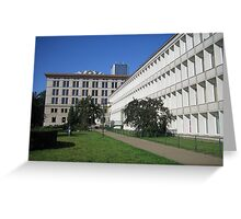 "Modernist Warsaw ""Florence Palazzo"" (1952) Greeting Card"