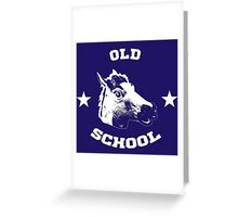 Old school horse Greeting Card