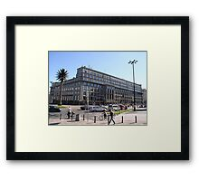 Charles'a de Gaulle'a Rondo in Warsaw, Poland Framed Print