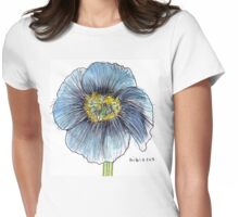 Hibiscus Womens Fitted T-Shirt
