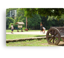 Quezon Memorial Circle activity: playing basketball 25 Canvas Print