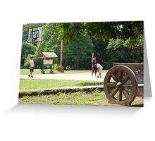 Quezon Memorial Circle activity: playing basketball 25 Greeting Card