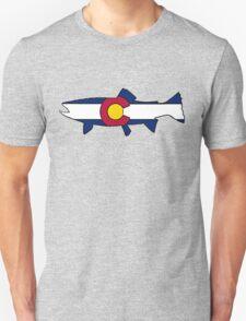 Colorado flag trout fish Unisex T-Shirt
