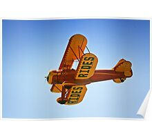 Vintage World War1 Bi-Plane Poster