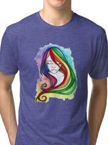 Coloured Hair Tri-blend T-Shirt