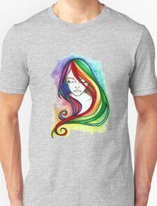 Coloured Hair Unisex T-Shirt