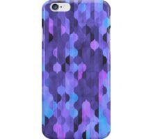 Purple Geometric Watercolor Pattern iPhone Case/Skin