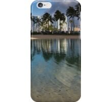 Palm Trees, Crystal Clear Lagoon Water and Tropical Fish iPhone Case/Skin