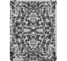 Aqua abstract bw  iPad Case/Skin