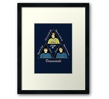 Star Trek Triumvirate - White Text for dark shirts Framed Print