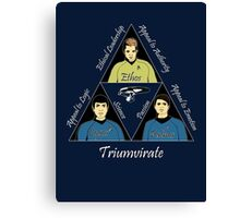 Star Trek Triumvirate - White Text for dark shirts Canvas Print
