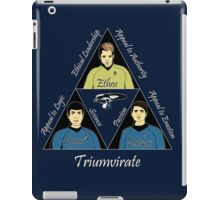 Star Trek Triumvirate - White Text for dark shirts iPad Case/Skin