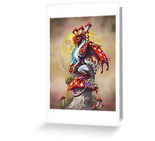 MUSHROOM DRAGON Greeting Card