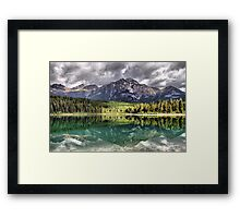 Patricia Lake & Pyramid Mountain Framed Print