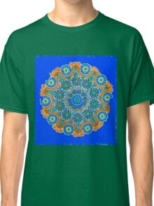 Doily Joy Mandala- Sky High Classic T-Shirt