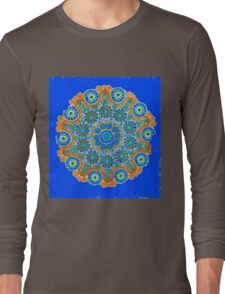 Doily Joy Mandala- Sky High Long Sleeve T-Shirt