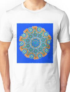 Doily Joy Mandala- Sky High Unisex T-Shirt
