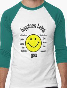 Happiness Men's Baseball ¾ T-Shirt