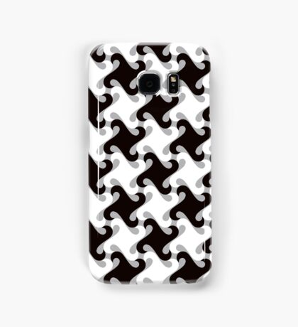 Swirly Houndstooth Samsung Galaxy Case/Skin