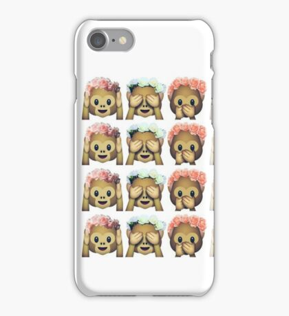 Emoji Monkeys iPhone Case/Skin