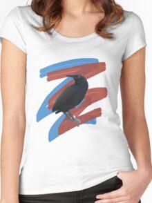 Black Bird 2 Women's Fitted Scoop T-Shirt