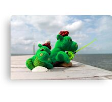 Loch Ness monster on vacation Canvas Print