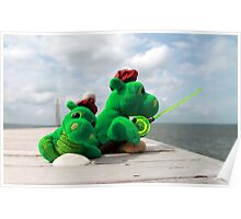 Loch Ness monster on vacation Poster