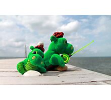 Loch Ness monster on vacation Photographic Print