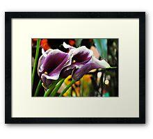Farmers Market Lilies Framed Print