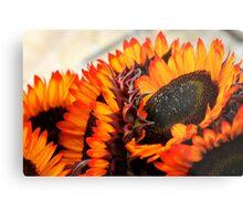 Farmers Market Fiery Sunflowers Metal Print