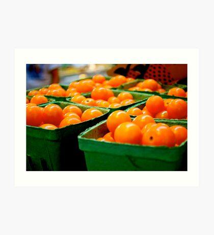 Farmers Market Baby Tomatoes Art Print