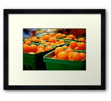 Farmers Market Baby Tomatoes Framed Print